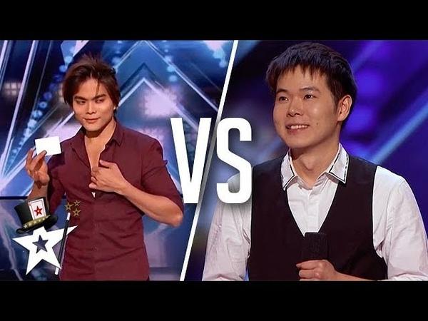 BEST Magicians Shin Lim VS Eric Chien on America's Got Talent   Top Talent