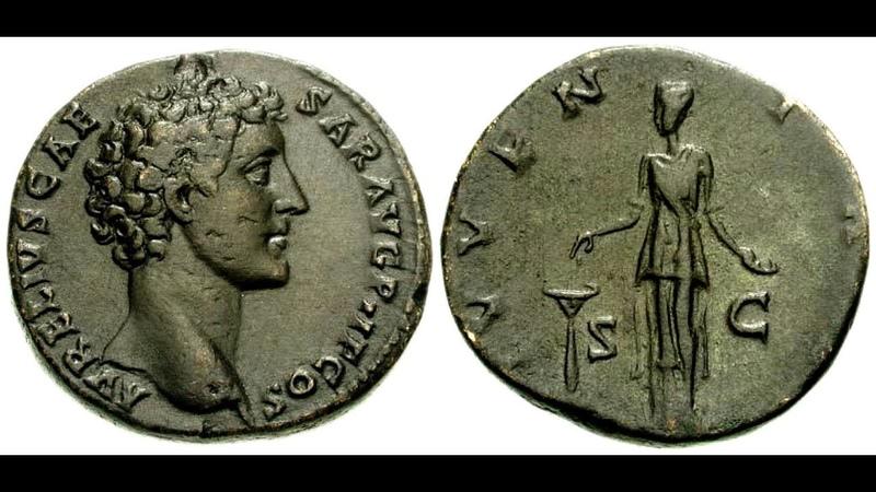 ✅Сестерций, 141 г. - 144 г., АНТОНИН ПИЙ, Sesterius, 141 - 144 AD, ANTHONY Pius👍