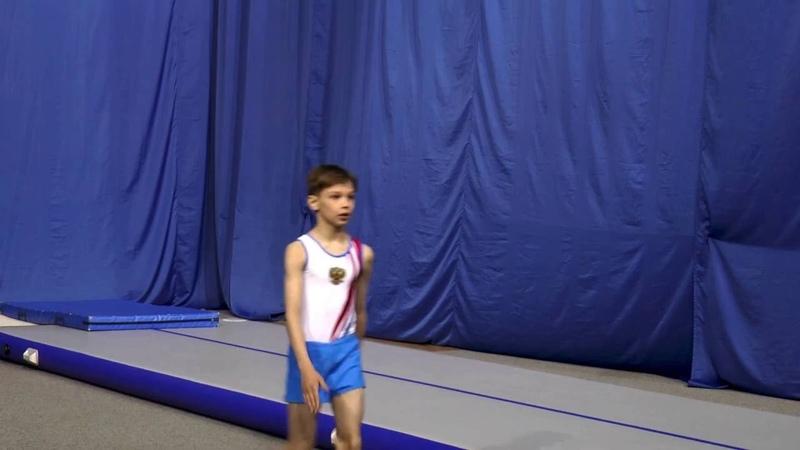 Акробатика. Прыжки по 1 юношескому разряду мальчики 2 группа. Звенигород Звезда 22.05.2016