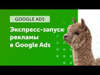 eLama: Экспресс-запуск рекламы в Google Ads от