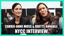 Carrie Anne Moss Odette Annable TELL ME A STORY New York Comic Con Interview NYCC 2019