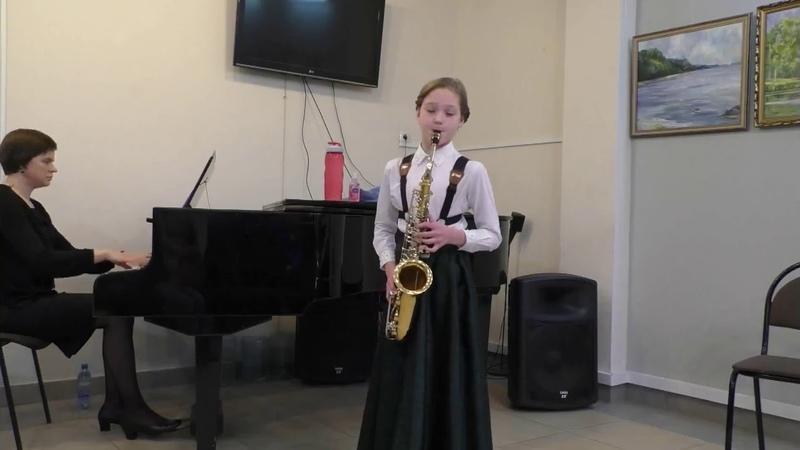 Сонатина К.М.Вебер исполняет Сафронова Эльвира (сольный концерт)