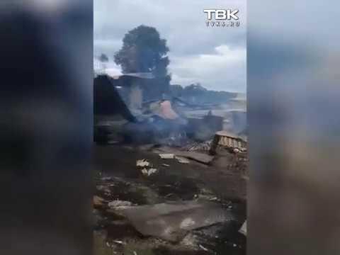 Последствия взрывов в деревне Каменка