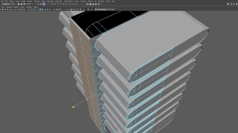 Отрывок видео урока из курса 3D МОДЕЛИРОВАНИЕ В MAYA моделирование простых форм