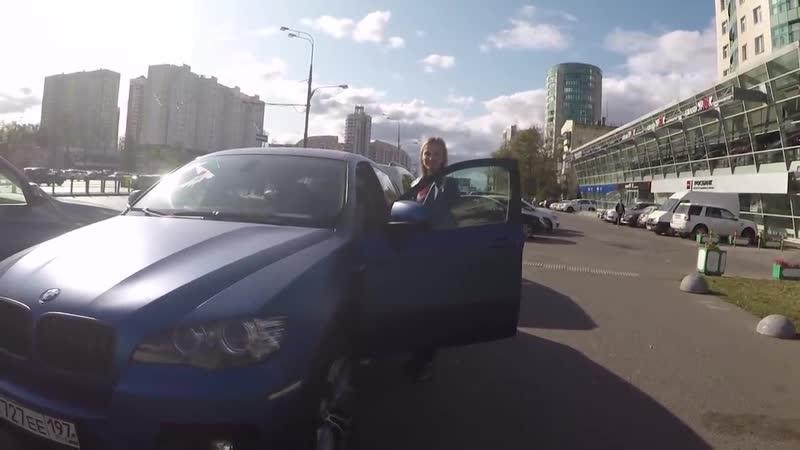 ♐СтопХам-Блондинка на BMW Х-6 против логики♐