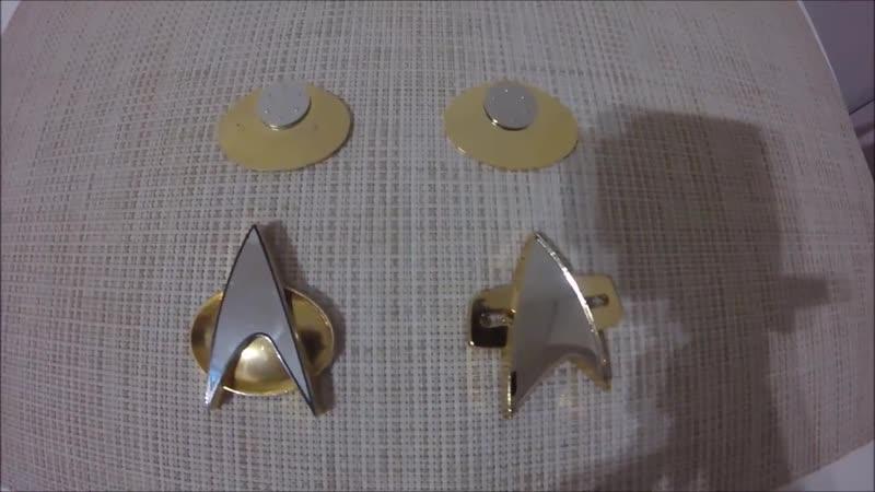 Распаковка и обзор значка по Звездному Пути Вояджер VOY от Антона Захарова Anton Faster