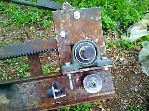 Делаем реечный инерционный дровокол √7 изготовление упоров каретки, натяжного ме