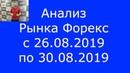 Анализ Рынка Форекс с 26 по 30 08 2019 EUR GBP AUD JPY GOLD DOW JONES BRENT