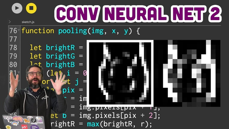Ml5.js What is a Convolutional Neural Network Part 2 - Max Pooling