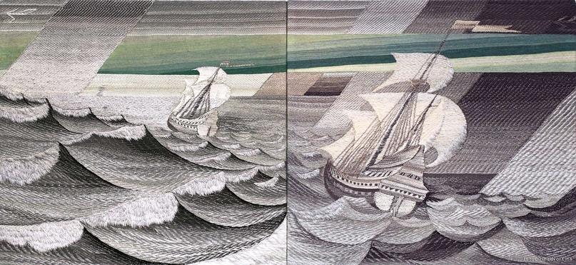 Борис Мигаль. Гобелен «Зеленый луч». Часть триптиха. 1985–1987.