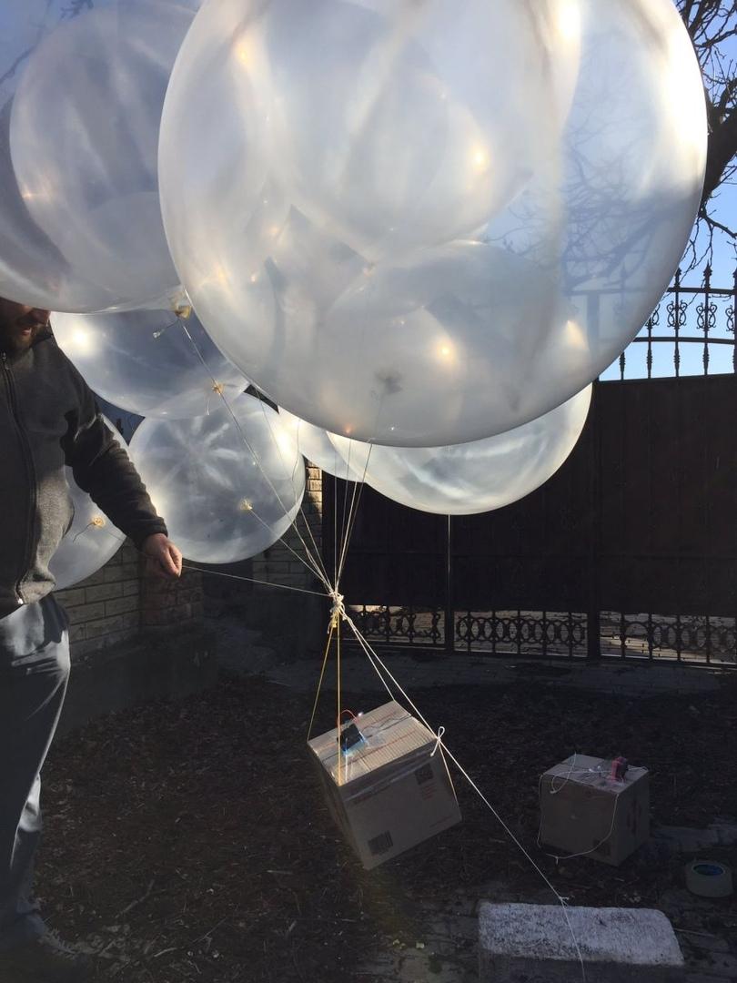Украинские волонтеры сбросили на ОРДО послания о коронавирусе