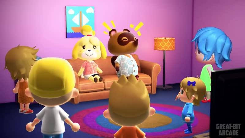 Заставка Симпсонов в Animal Crossing New Horizons