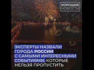 В России составили рейтинг городов с самыми интересными событиями для туристов