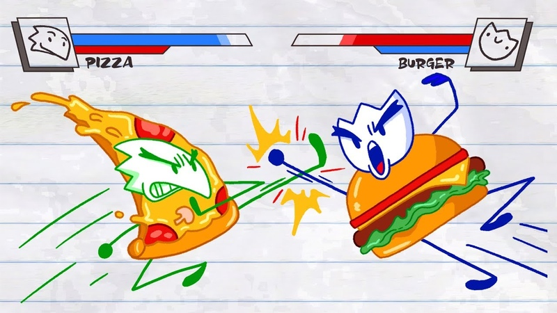Foody Burger King in FOOD FIGHTERS Cooking With Max Pencilmation Cartoon