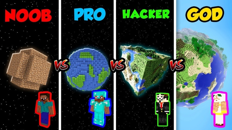 Minecraft NOOB vs PRO vs HACKER vs GOD PLANET in Minecraft Animation