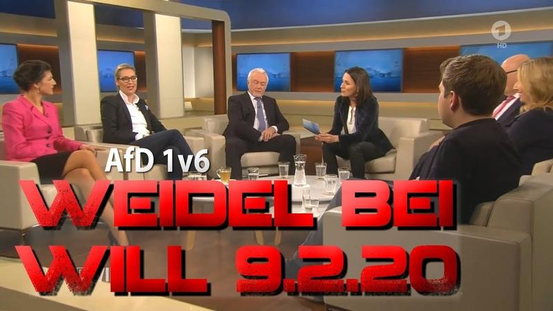 Alice Weidel AfD bei Anne Will am 9 2 20 Wichtigste Ausschnitte