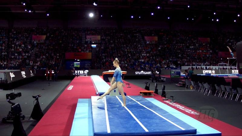 SHCHEKOLDINA Aleksandra (RUS) - 2019 Artistic Worlds, Stuttgart (GER) - Qualifications Vault 1