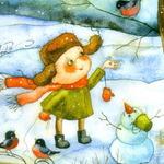 На дворе белым-бело! — детские стихи про зиму