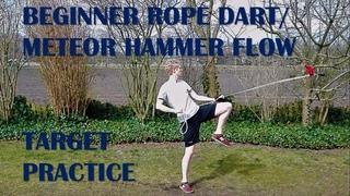 Beginner Rope Dart/Meteor Hammer Flow + Target Practice