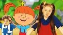 Жила-была Царевна - Зарядка с Царевной Детская площадка / развивающие мультики - теремок песенки