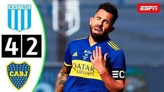 Boca Juniors 0 (2) VS Racing 0 (4)   RESUMEN COMPLETO   SEMIFINAL   Copa de la Liga Profesional