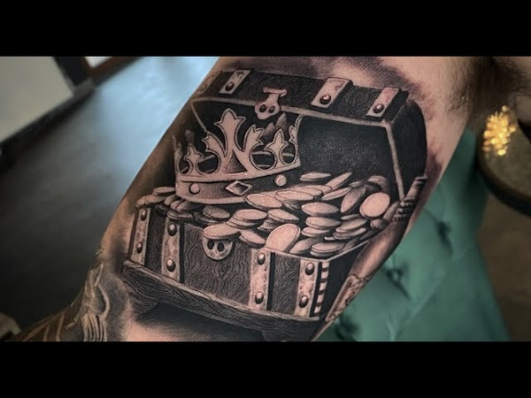 Pirate chest Tattoo time lapse