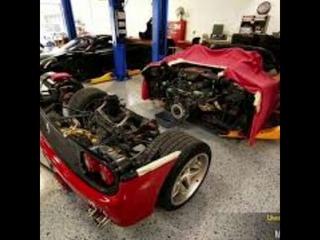 Кадры Замены сцепления на Ferrari f50