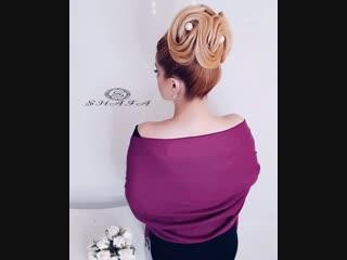 Элегантная и изысканная причёска