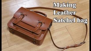 30 [LeatherCraft] Making Leather Satchel bag ver2 / [가죽공예] 사첼백 만들기 ver2 / Free Pattern