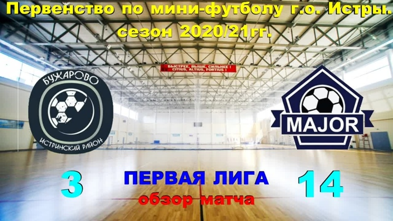 обзор матча Бужарово Мэйджор