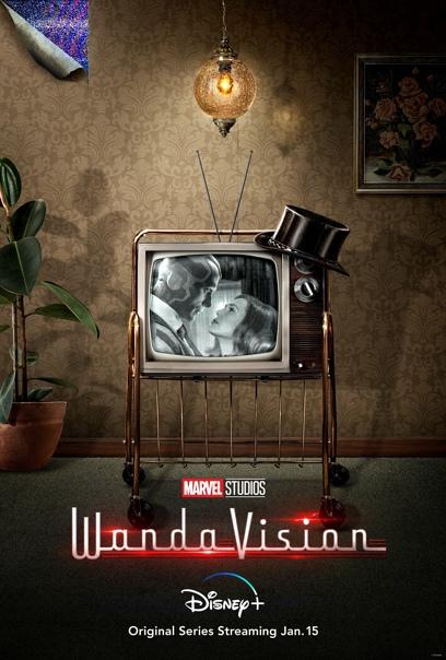 Очередной постер фантастического сериала «ВандаВижн»