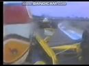 England-89, Nelson Piquet Bra, Lotus-Judd, onboard, overtakes Pierluigi Martini