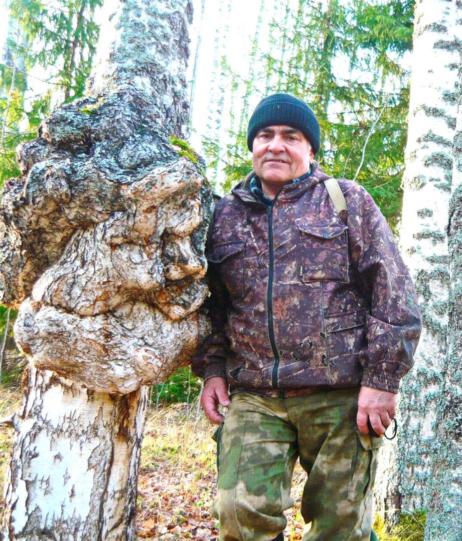 Берёзовский охотник и берёзовый «лесовик».
