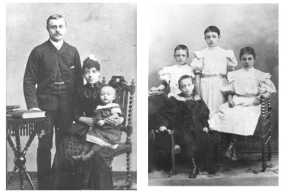 Макс Гендель с женой и детьми