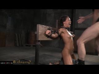 Kalina Ryu [ Bdsm / Dildo and vibrator , Deep blowjob , Cum on face , In oil , Bondage]