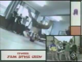 Jam Style Crew and Da Boogie Crew c учениками в СПб, лето 1998 года