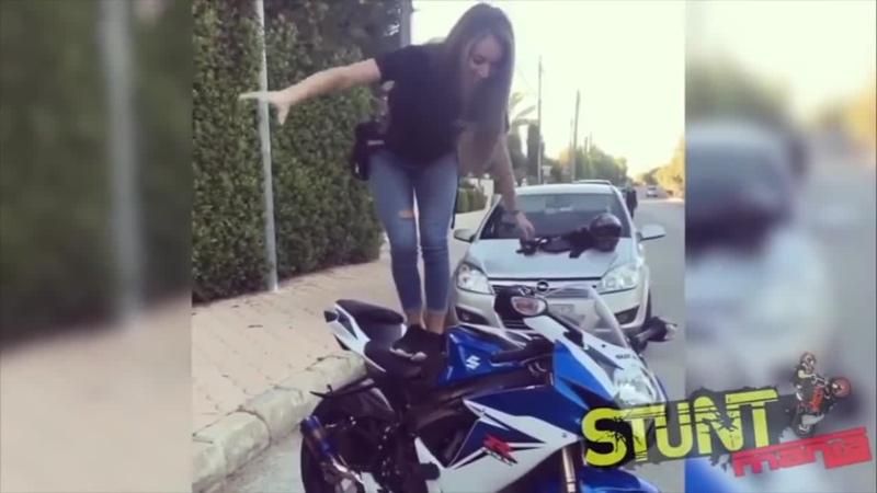 Girls on Motorcycles 2018 STUNT MANIA