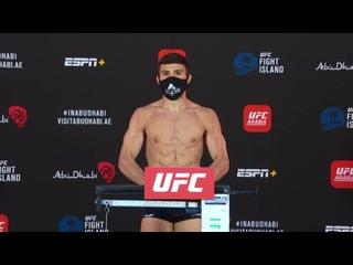 Арман Царукян прошел процедуру взвешивая перед UFC Бойцовский остров 2
