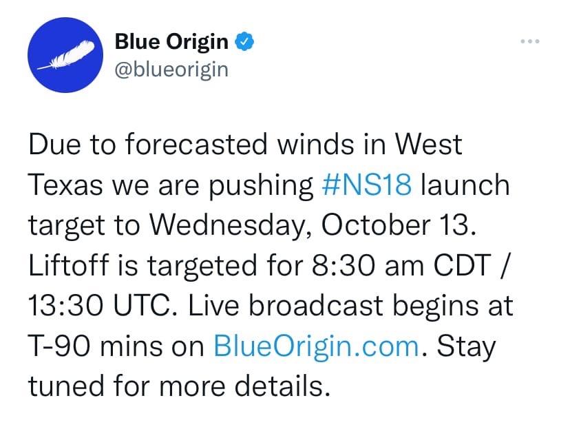 Blue Origin отложила космический полет Уильяма Шатнера до 13 октября (ziUJvetAfU8)