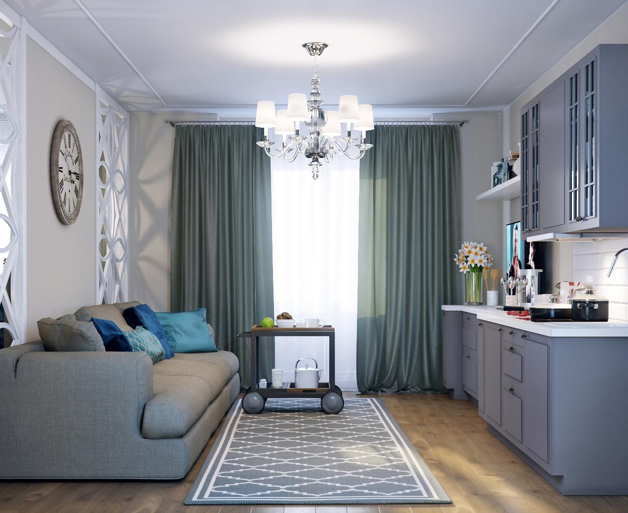 Проект квартиры-студии в гостевом доме, Краснодарский край.