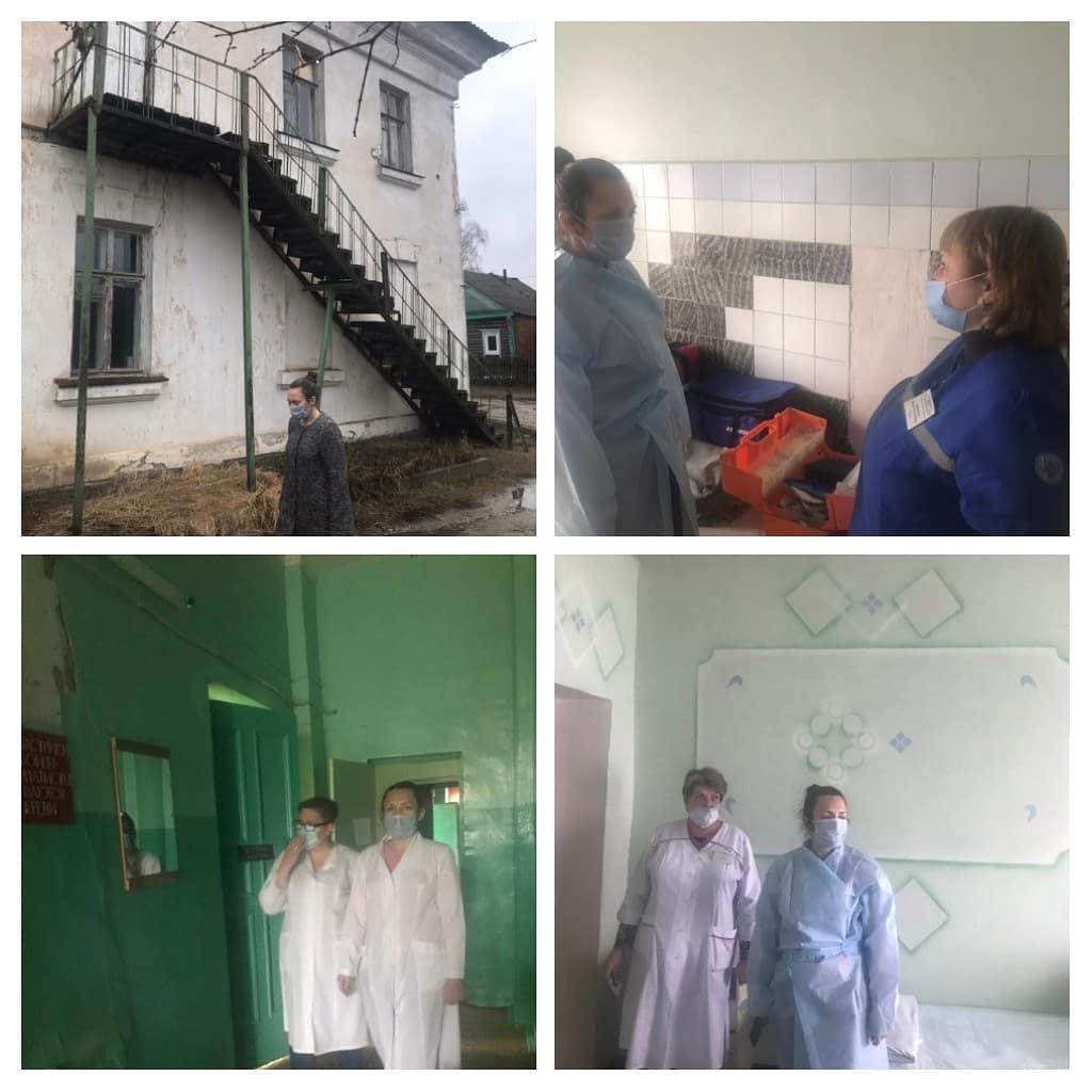 В минувшую субботу главный врач Анна Воронцова побывала в Озёрках и Берёзовке