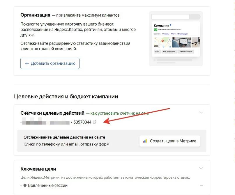 Проверка счетчика Метрики в Яндекс.Директе