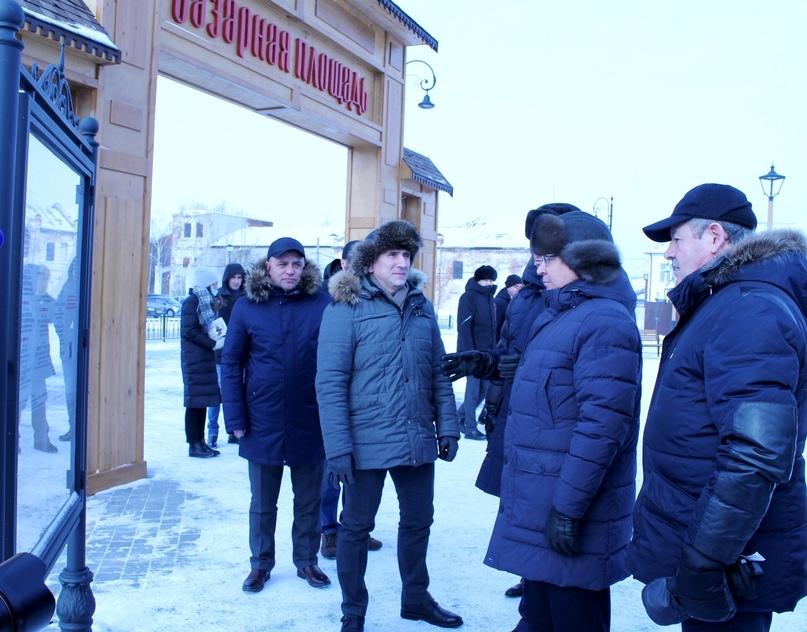 Владимир Якушев оценил работы на Базарной площади положительно, изображение №1