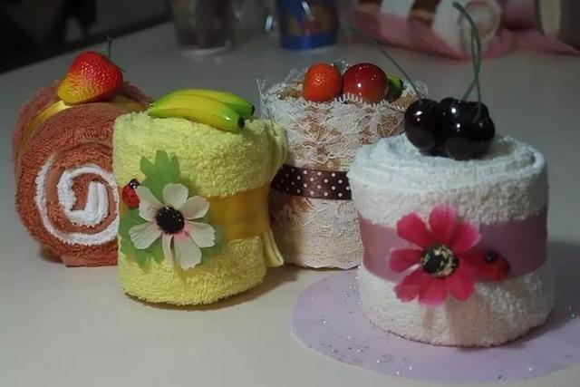 как сделать торт из полотенец своими руками,