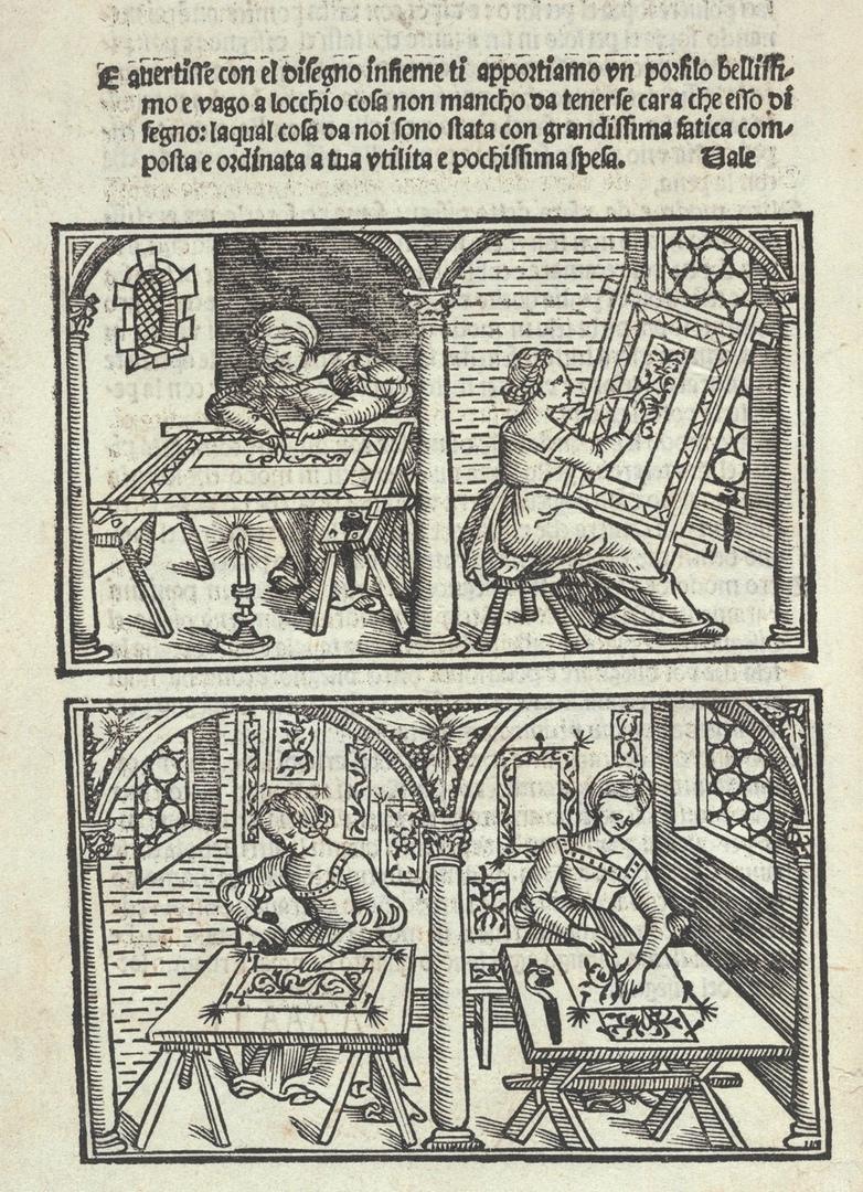 Перенос рисунка на ткань разными способами. 1532.https://wwd.com/fashion-news/textiles/gallery/met-exhibit-highlights-renaissance-textile-design-10265287/48-40-4/