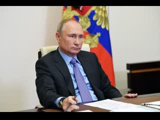 Путин на встрече с главами СНГ