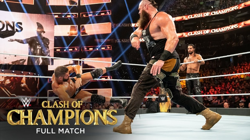 FULL MATCH Rollins Strowman vs Ziggler Roode Raw Tag Title Match WWE Clash of Champions 2019