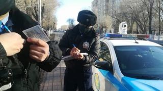 Ментовской беспредел Казахстан развод на мигающий.