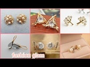 Beautiful tiny gold stud earrings styles for women's