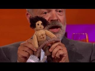Aidan Turners bizarre topless Poldark doll on GN Show